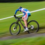 Racer cycling